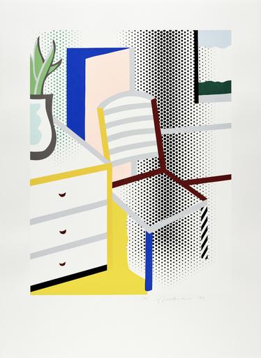 Roy LICHTENSTEIN - Estampe-Multiple - Interior with Chair