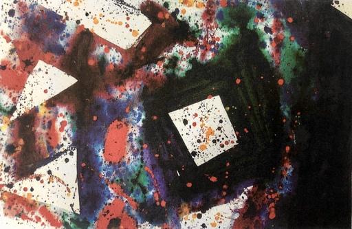 Sam FRANCIS - Pintura - THE WEIGHT AT  THE CENTER