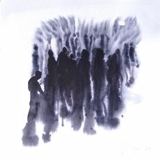 Philippe COGNÉE - Drawing-Watercolor - Foule
