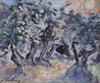 André HAMBOURG - Pintura - Soleil dans les oliviers