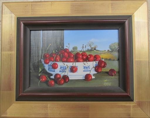 Tyrone AGUADO - Painting - Nature morte aux cerises