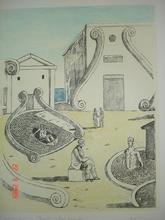 Giorgio DE CHIRICO - Grabado - Incontro nei bagni misteriosi
