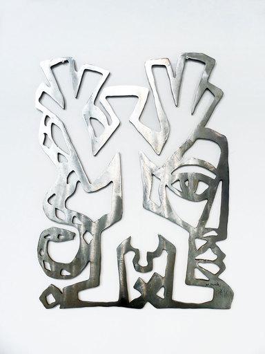 A. R.  PENCK & Gottfried  BRÄUNLING - Sculpture-Volume - Standart, Kopf, Schlange