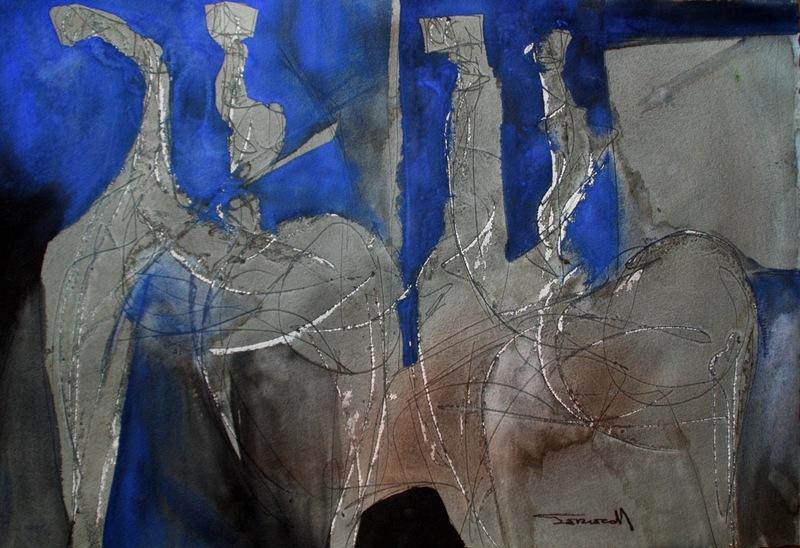PERECOLL - Drawing-Watercolor - Zwei Ritter