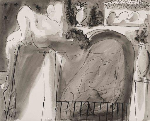 巴勃罗•毕加索 - 水彩作品 - Le Voyeur