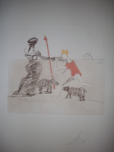 Salvador DALI, PASTORALE. ORIGINAL ETCHING HANDSIGNED BY DALI