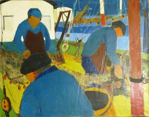 Claude ALIOTTI - Pintura - *Marins Sur Le Bateau