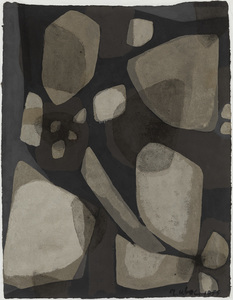 Raoul UBAC - Drawing-Watercolor - Abstract composition