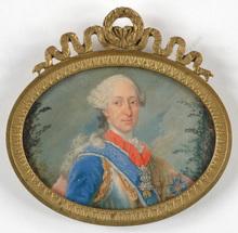 "Georges DESMARÉES - Miniatura - ""Maximilian III Joseph, Elector of Bavaria"", miniature"