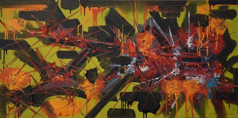 Georges MATHIEU - Painting - L'angoisse exaucè