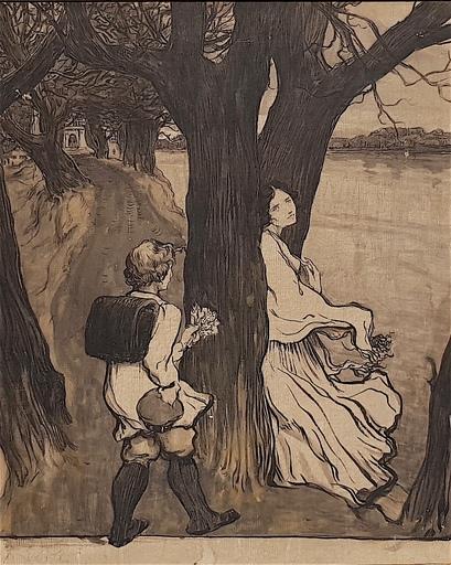 Fritz ERLER - Pintura - By the lake