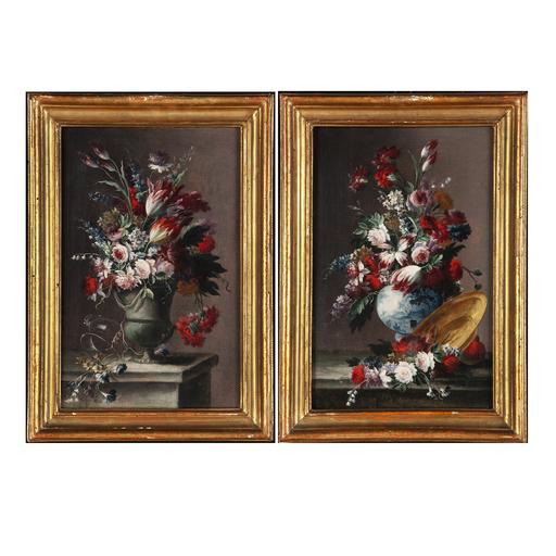Gasparo LOPEZ DEI FIORI - Pintura - Coppia vasi di fiori