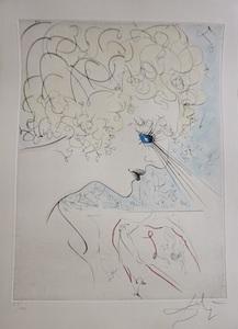 Salvador DALI - Estampe-Multiple - La Venus aux Fourrures The Head