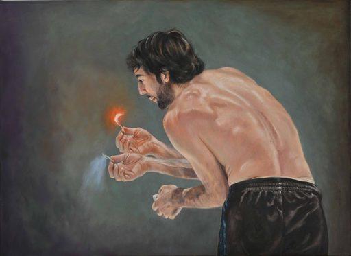 Regine FREISE - Pintura - « L'allumette »