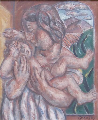 Alfonso SUCASAS GUERRA - Pittura - MATERNIDAD