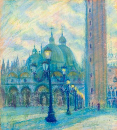 Theodor ALLESCH-ALESCHA - Dibujo Acuarela - Venedig