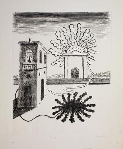 Giorgio DE CHIRICO - Grabado - Tempio del Sole, 1969