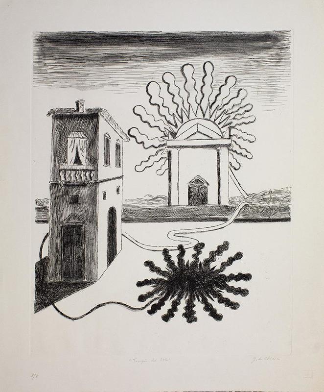 乔治•德•基里科 - 版画 - Tempio del Sole, 1969