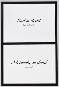 Mounir FATMI - Estampe-Multiple - God is dead