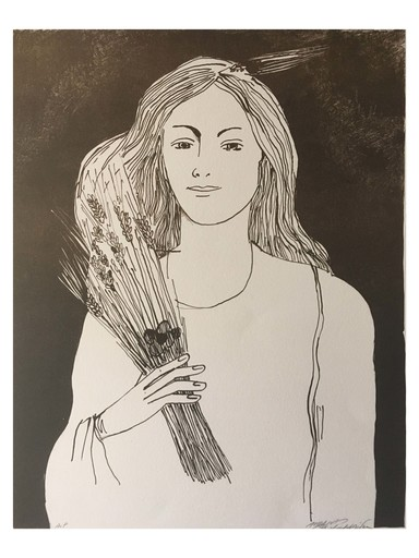 Andreas CHARALAMBIDES - Stampa-Multiplo - Girl with haystack 2004