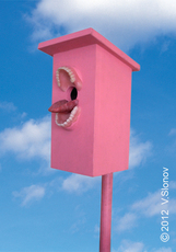 "Vasily SLONOV - Sculpture-Volume - Birdhouse ""Mouth"""