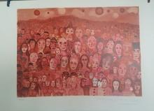 "Marcel MARCEAU (1923-2007) - ""The Crowd (The Third Eye)"""