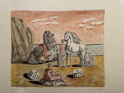 Giorgio DE CHIRICO - Print-Multiple - Riposo presso le correnti dell'Egeo 1969