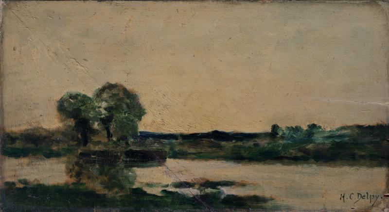 Hippolyte Camille DELPY - Painting - Bord de rivière