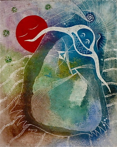 August PUIG - Painting - Paris, 1950