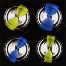 Franco COSTALONGA - Sculpture-Volume - Oggetto Cromocinetico OCGBD4/13 sfere (nero)