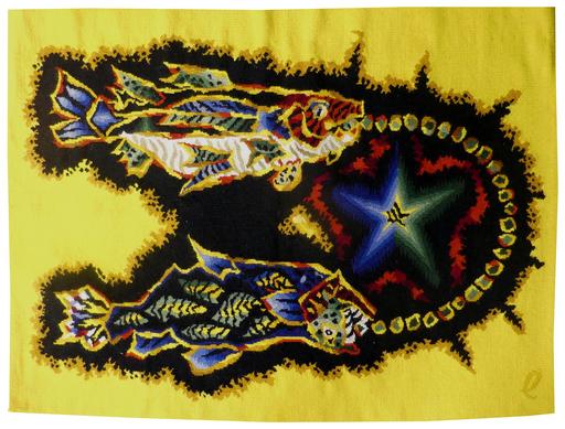 Jean LURÇAT - Tapestry - signes du Zodiaque : les poissons