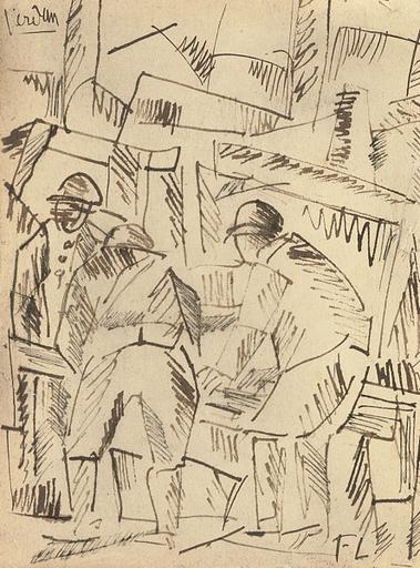 Fernand LÉGER - Dessin-Aquarelle - Sapeurs à Verdun