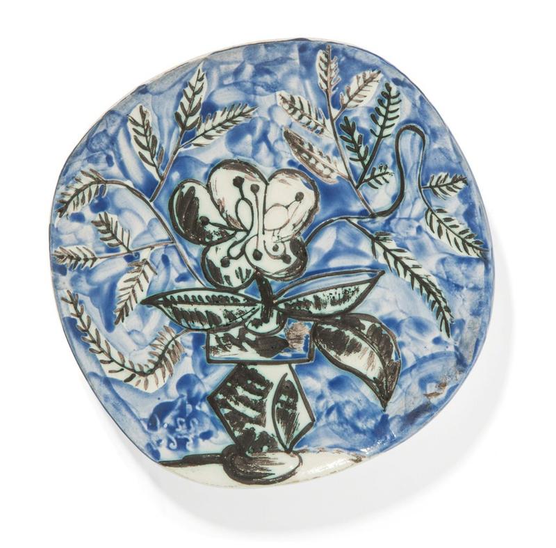 巴勃罗•毕加索 - 陶瓷  - Vase au bouquet