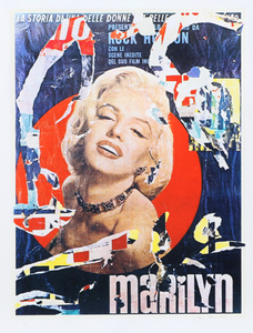 Mimmo ROTELLA - Stampa Multiplo - Marilyn