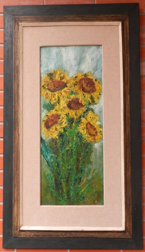 Josef TREUCHEL - Painting - Cytica of sunflowers