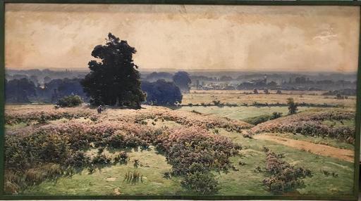 William DIDIER-POUGET - Peinture -  Très grand Paysage matinal