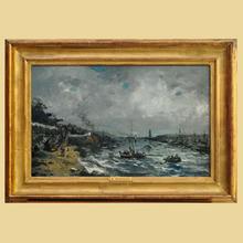 Eugène BOUDIN - Painting - Marine
