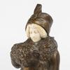 Emil THOMASSON - Sculpture-Volume - Emil Thomasson (XIXe-XXe), Élégante au manchon, XXe