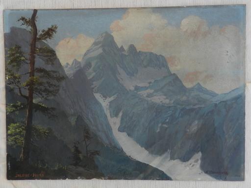 Alexander DZIGURSKI - Painting - Mountains Jalouc