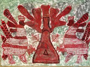 Inna SKIDAN - Pintura - Shadows of forgotten ancestors 2