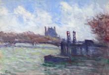 Maximilien LUCE (1858-1941) - Paris, La Seine près du Louvre