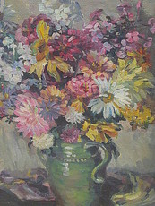 Alida KISSKALT - Painting - Blumenstrauß in Vase