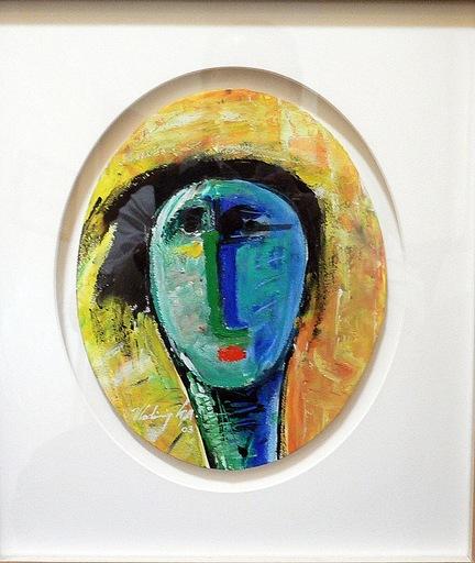 Vladimir CORA - Pintura - Cabeza en ovalo II