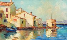 Elie BERNADAC - Painting - SAINT TROPEZ