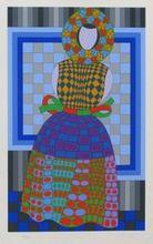Victor VASARELY - Print-Multiple - Fille Fleur