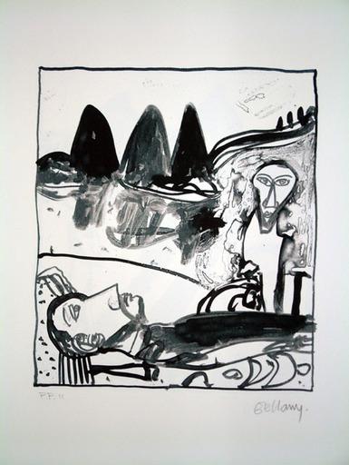 John BELLANY - Druckgrafik-Multiple - The Wanderer 1 - 3 Hills