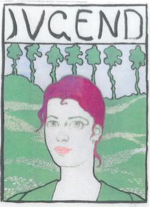 Cuno AMIET - Drawing-Watercolor - Jeunesse, portrait d'Anna Amiet