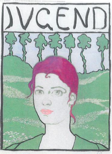 Cuno AMIET - Dessin-Aquarelle - Jeunesse, portrait d'Anna Amiet
