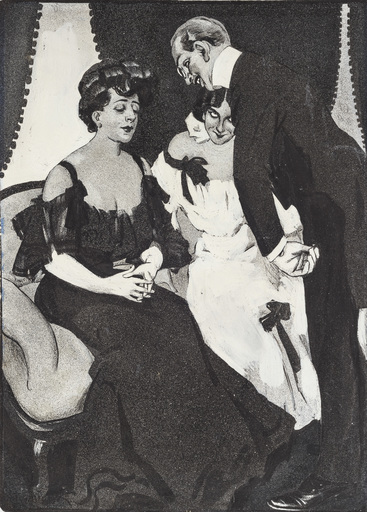 Ferdinand VON REZNICEK - Disegno Acquarello - Die Witwe