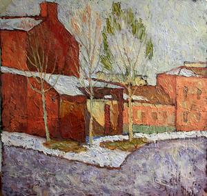 Valeriy NESTEROV - Painting - Verkhnaya Radischevskaya Street. Moscow
